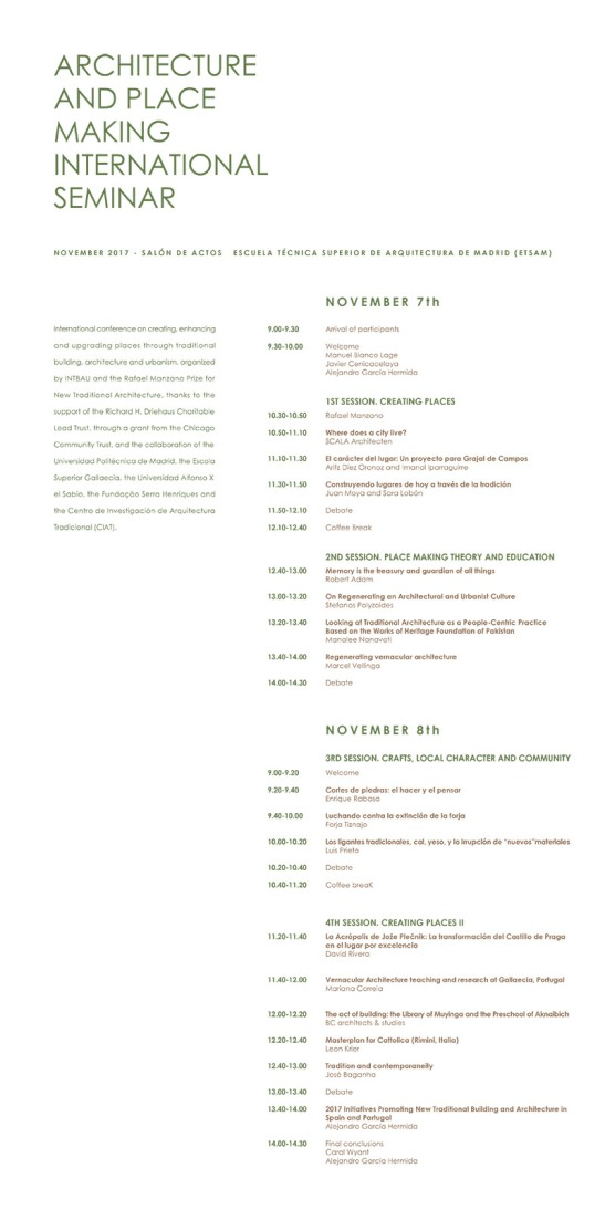 Programa Seminario ETSAM
